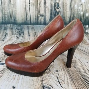 Jessica Simpson ~ Brown Leather Pumps